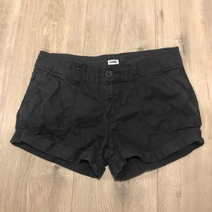 Kismet - black canvas feel shorts